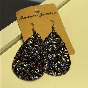 Multicolor faux leather earrings